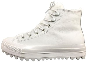 Converse All Star Platform Fleece Lined White Athletic