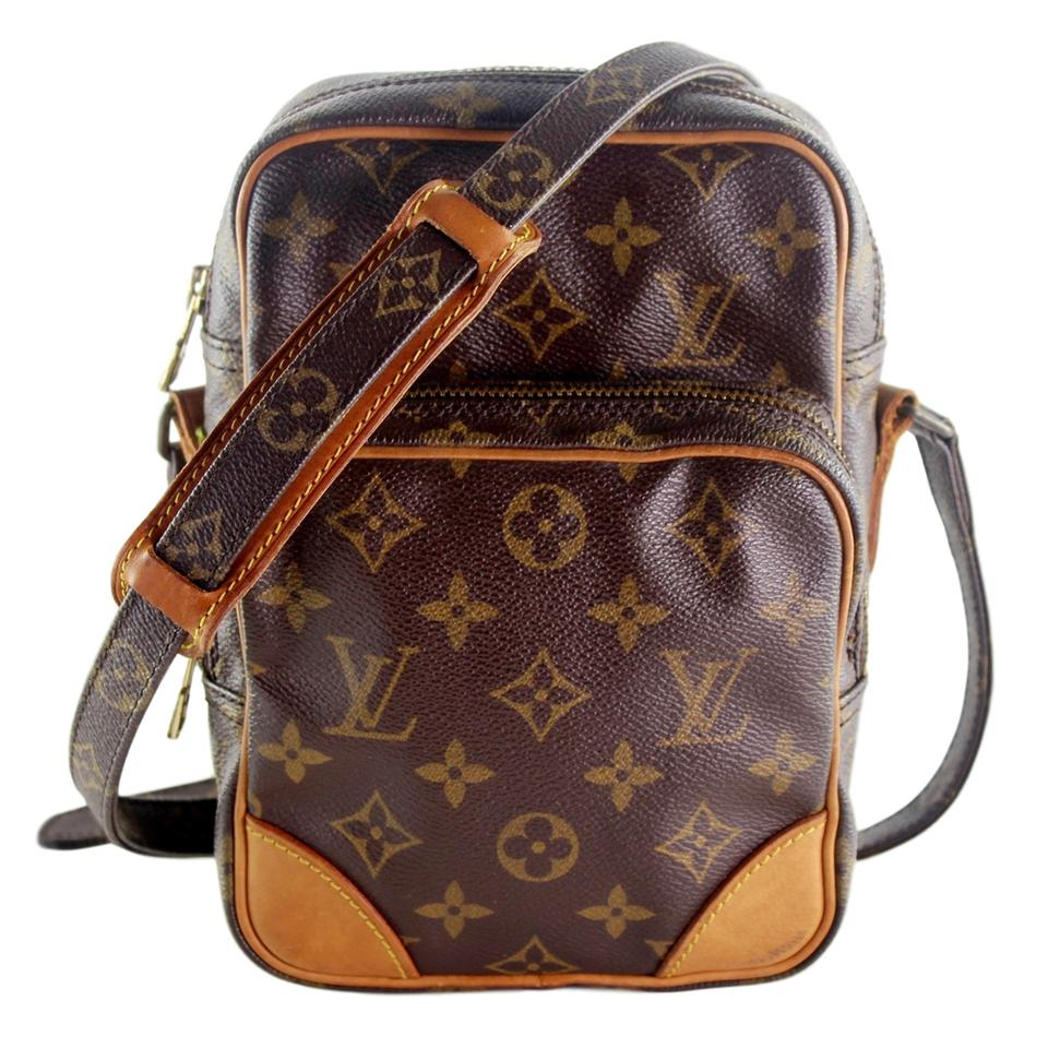 824710c29605 Louis Vuitton Amazon 6362 Brown Canvas Cross Body Bag - Tradesy
