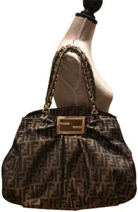 Fendi Satchel in brown and gold