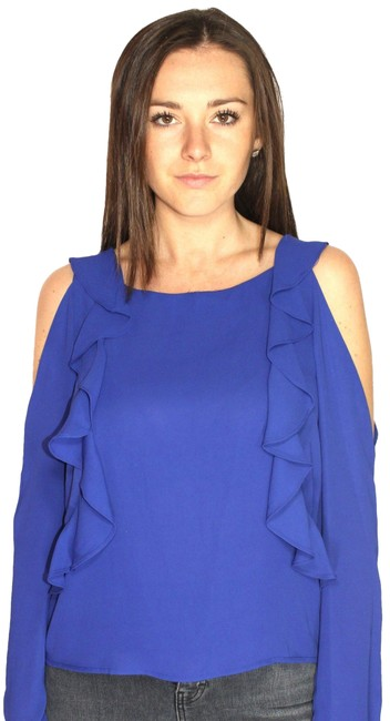 Preload https://img-static.tradesy.com/item/23841210/saks-fifth-avenue-royal-blue-ruffle-small-new-with-tag-blouse-size-4-s-0-1-650-650.jpg