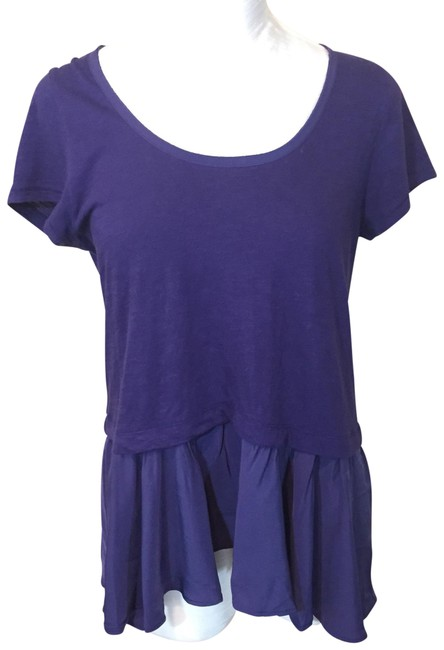 Preload https://img-static.tradesy.com/item/23841213/anthropologie-purple-postmark-peplum-blouse-size-8-m-0-1-650-650.jpg