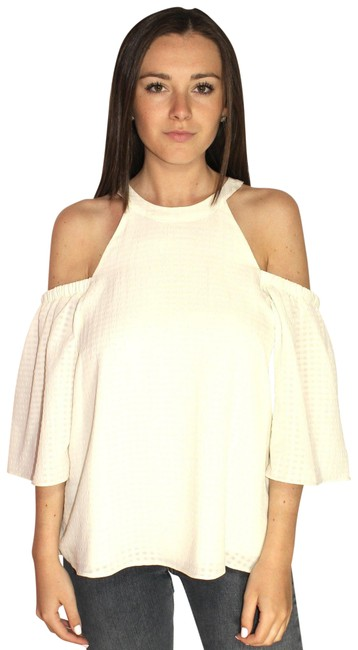 Preload https://img-static.tradesy.com/item/23841263/saks-fifth-avenue-cream-textured-shoulder-cutout-medium-blouse-size-8-m-0-1-650-650.jpg
