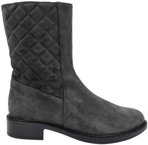 Aquatalia Grey Quilted Suede Boots