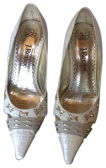 Preload https://img-static.tradesy.com/item/23841355/j-renee-whitegoldivorytaupesilver-metallic-fabric-and-mixed-metallic-accents-pumps-size-us-75-regula-0-1-540-540.jpg