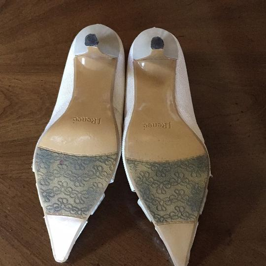 J. Reneé white/gold/ivory/taupe/silver Pumps