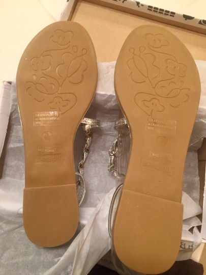 Bamboo Grayson-21 Silver Sandals