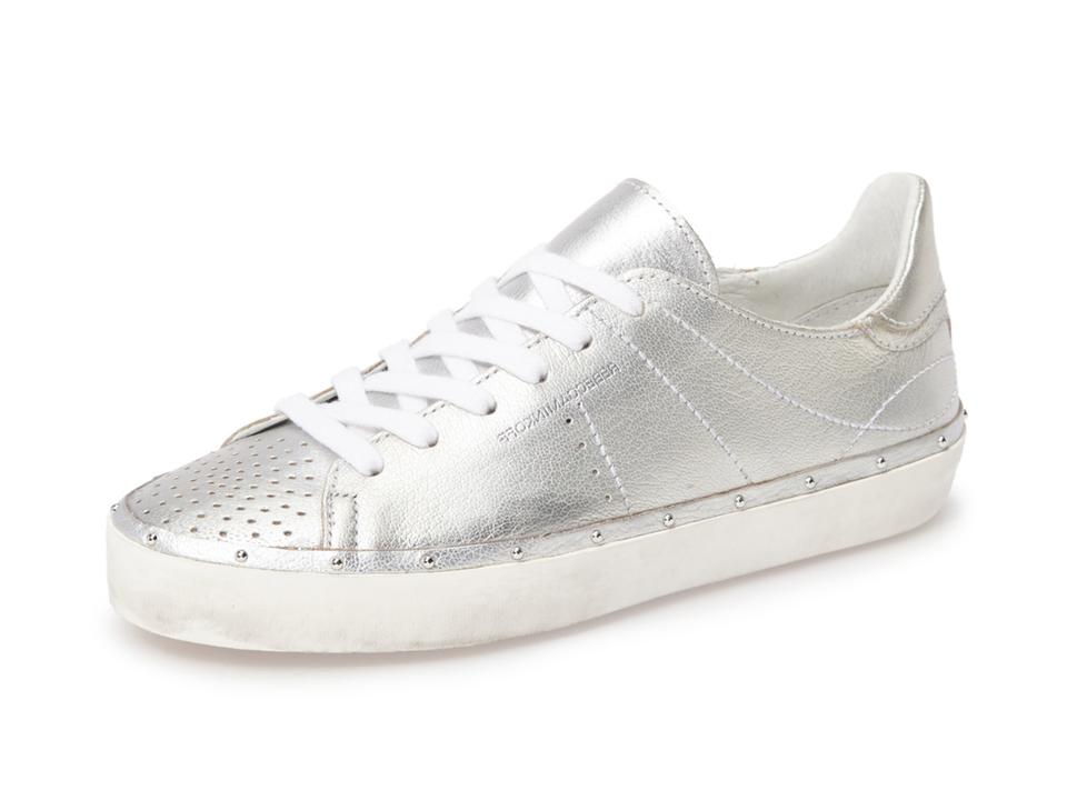Rebecca Minkoff Silver Michell Distressed Distressed Michell Sole Studded Sneakers f3be5c