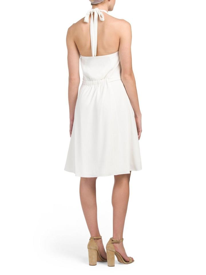 Short Color Theory Dress Casual Ivory In 'nayline' Halter gRRzXqT