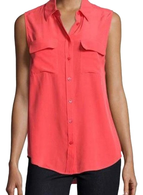 Item - Bright Red Slim Signature Button-down Top Size 2 (XS)