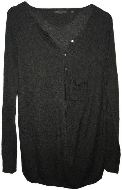 Preload https://item5.tradesy.com/images/vince-charcoal-henley-sweaterpullover-size-4-s-23841554-0-1.jpg?width=400&height=650