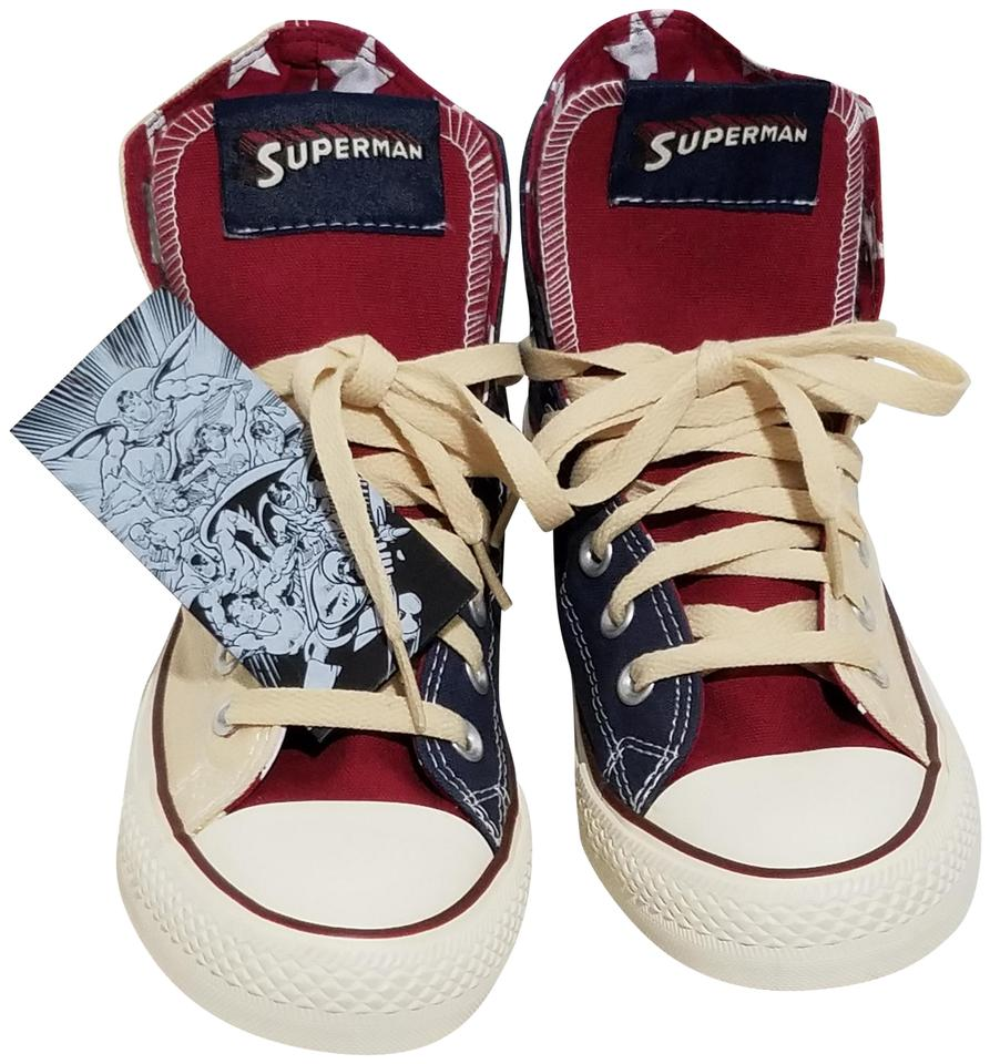 Converse Red Sneakers Star Chuck Taylor Superman Sneakers Red Dc Comics Sneakers eef870