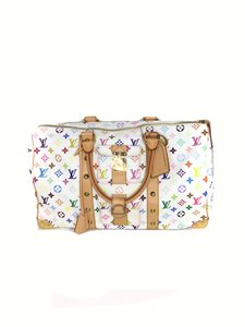 Louis Vuitton Keepall White Multicolore Travel Bag