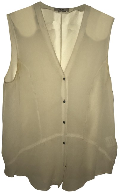 Item - Cream Ghost Silk Silica Button-down Top Size 2 (XS)