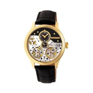 HERITOR Heritor Winthrop Automatic Black Dial Mens Watch HR