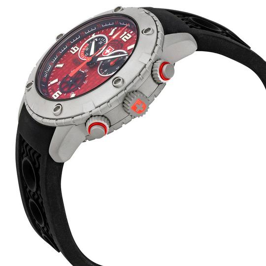 Swiss Military Swiss Military Rallye GMT Red Dial Mens Silicone Watch