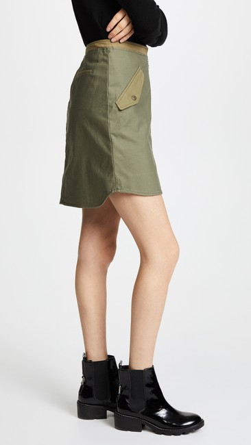 Rag & Bone Mini Skirt army green