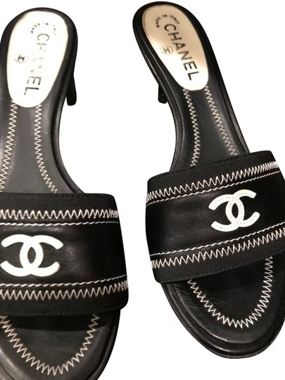 Preload https://img-static.tradesy.com/item/23841951/chanel-black-italian-leather-with-white-stitching-and-white-cclogo-and-sandals-size-eu-39-approx-us-0-1-540-540.jpg