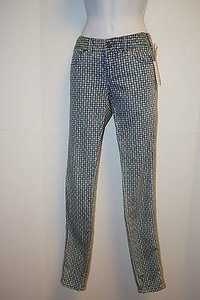 Free People Nwt People Diamond Skinny Navy Combo Stretch Women 25 Skinny Jeans