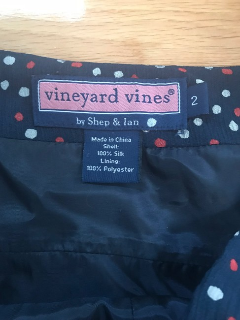 Vineyard Vines short dress Navy Sleeveless Polka Dot on Tradesy