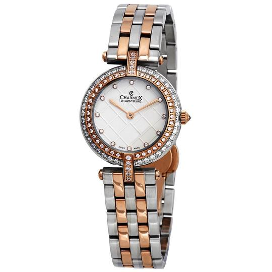 Preload https://img-static.tradesy.com/item/23842010/crystal-white-dial-two-tone-ladies-watch-0-0-540-540.jpg