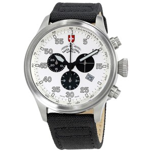 Swiss Military Swiss Military Hawk Silver Dial Mens Canvas Watch