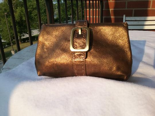 Cole Haan Leather Cosmetic Bronze Brown Clutch Image 1