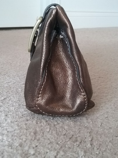 Cole Haan Leather Cosmetic Bronze Brown Clutch Image 10