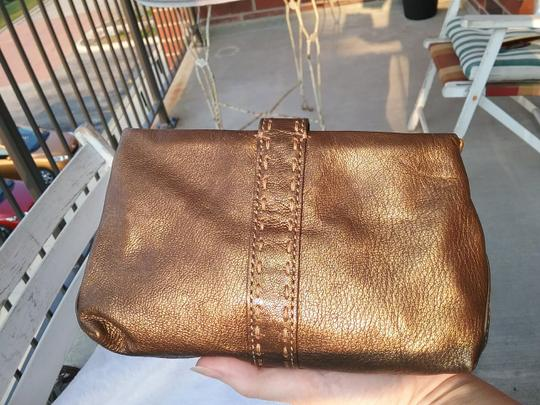 Cole Haan Leather Cosmetic Bronze Brown Clutch Image 3