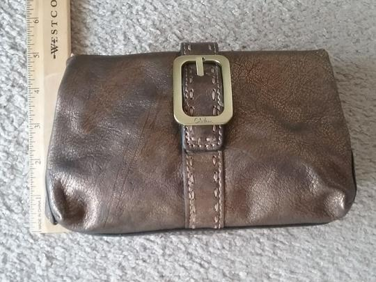 Cole Haan Leather Cosmetic Bronze Brown Clutch Image 8