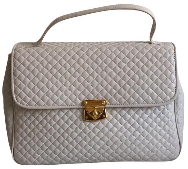 Valerie Stevens Quilted Taupe Leather Satchel Valerie Stevens Quilted Taupe Leather Satchel Image 1