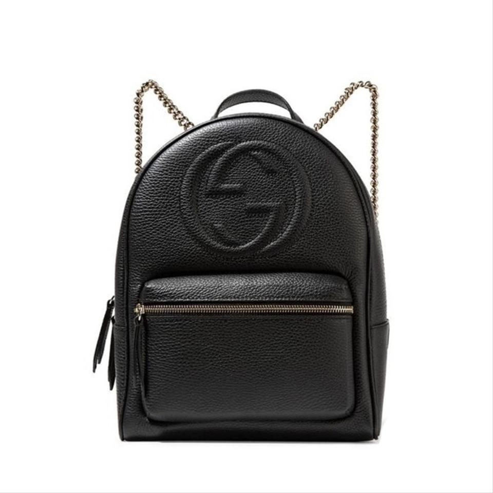 45a6ab69c84 Gucci Soho Women s 536192 Black Leather Backpack - Tradesy