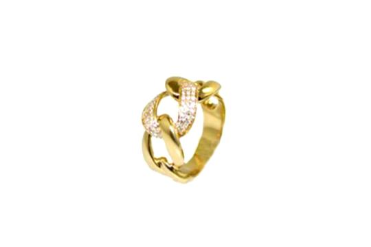 Other 14K Diamond Cuban Link Womens Ring