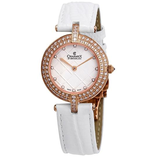 Preload https://img-static.tradesy.com/item/23842455/las-vegas-crystal-white-dial-white-leather-ladies-watch-0-0-540-540.jpg