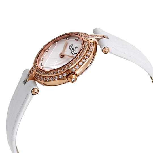 Charmex Charmex Las Vegas Crystal White Dial White Leather Ladies Watch