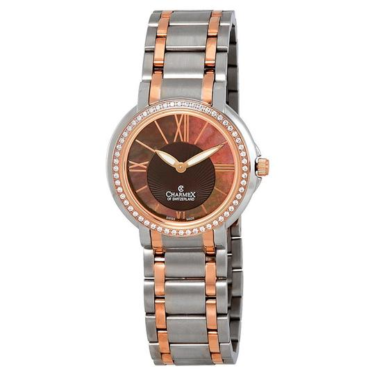 Charmex Charmex Brown Mother of Pearl Dial Two Tone Ladies Watch