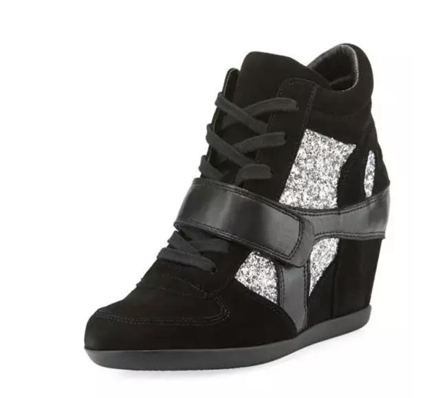 Item - Black/Silver Bowie Sneakers Size US 5 Regular (M, B)