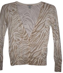 H&M Button Front Pattern Long Sleeve Sweater