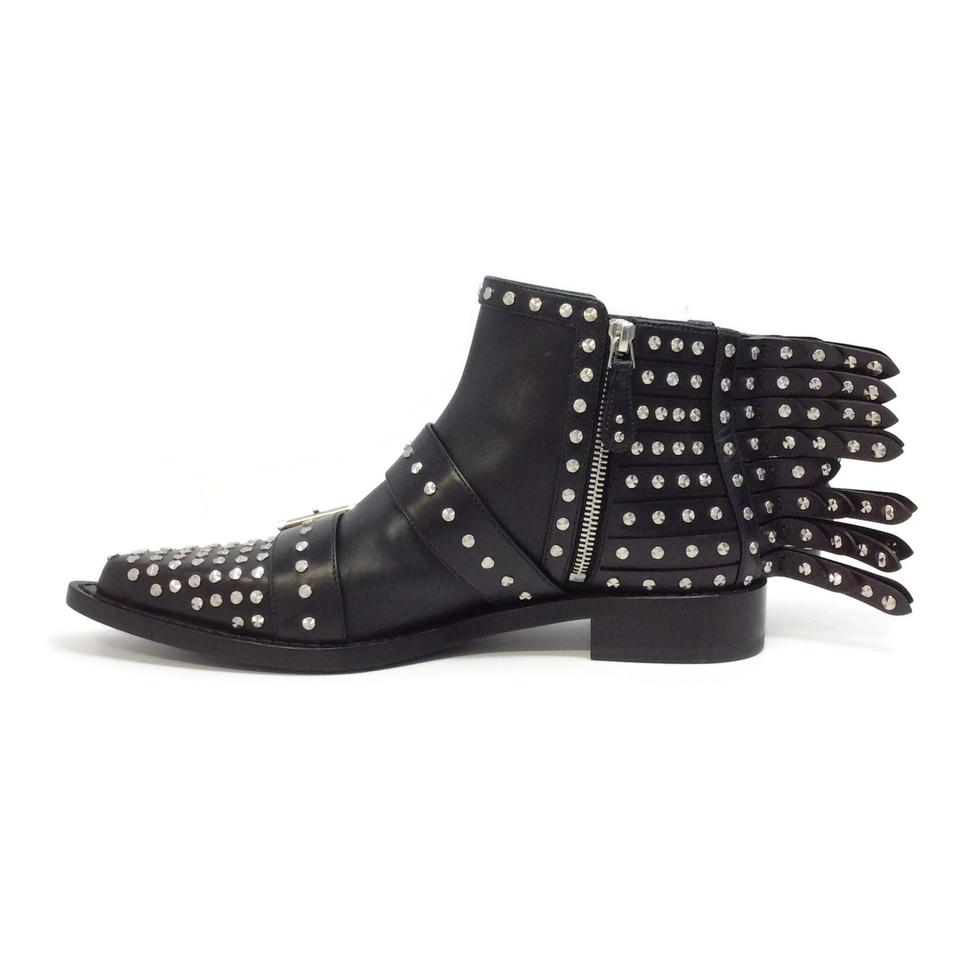 Booties McQueen Wing Alexander Fringed Black Boots xwYgxBq4