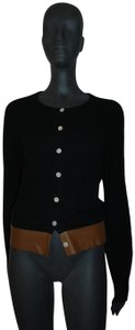 Mayle Anthropologie Cardigan Cardigan Leather Trim Sweater