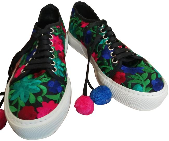 Item - White Multiple Made In Italy Print Pompom Sneakers Size EU 36 (Approx. US 6) Regular (M, B)
