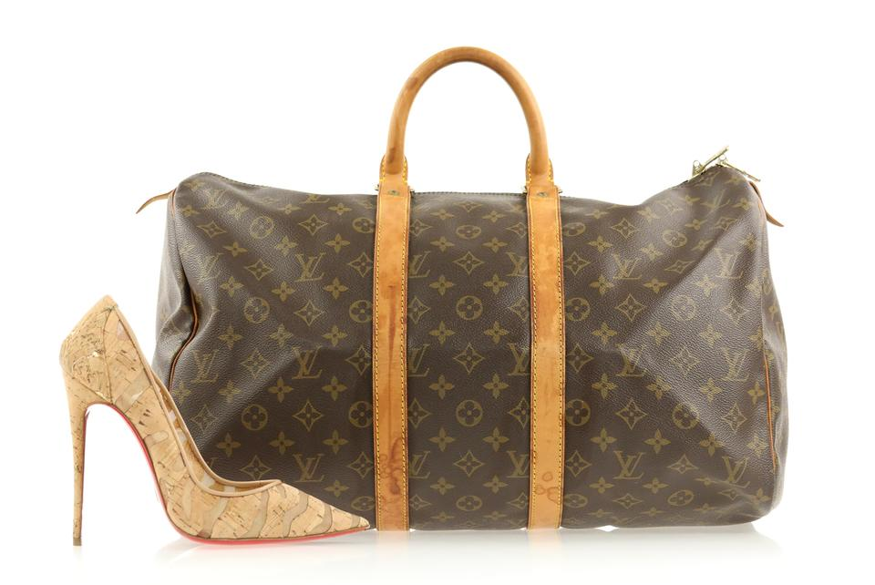 Louis Vuitton Keepall 45 Monogram Brown Coated Canvas Weekend Travel Bag -  Tradesy 98a03103c0