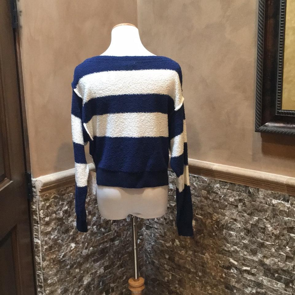 Pullover Blue White People and Free Cropped Sweater Striped WOxUPnP