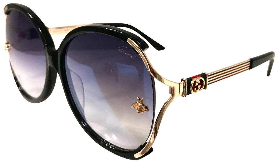 Gucci Black Red Blue Butterfly Frame Bee Sunglasses 42% off retail