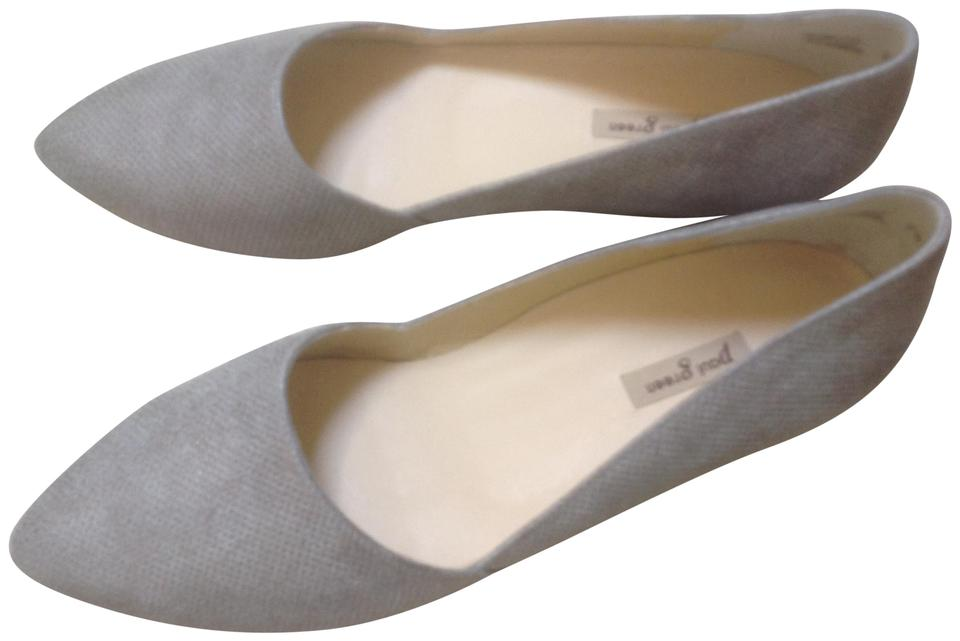 new arrival 45d6d 3ee0a Paul Green Metallic Taupe Mimi Smoke Leather Flats Size US 10 Regular (M,  B) 48% off retail