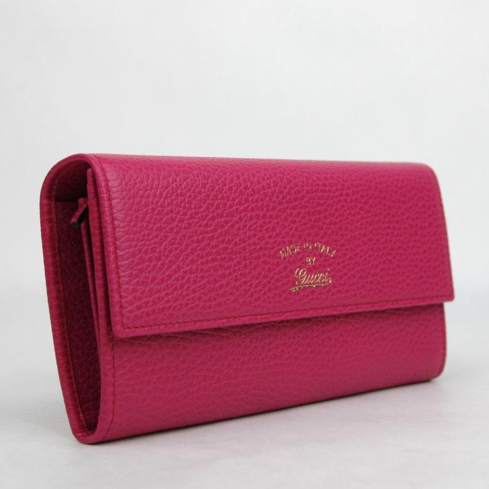 b3a53ff79d59 Gucci Fuchsia Women's Leather with Trademark Logo 354496 5614 Wallet ...