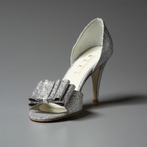 BHLDN Silver Cendrillon D'orsays By Something Blue Pumps Size US 9.5 Regular (M, B)