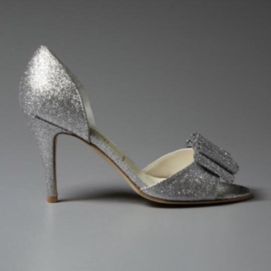 BHLDN Silver Cendrillon D'orsays By Something Blue Pumps Size US 9.5 Regular (M, B) Image 1
