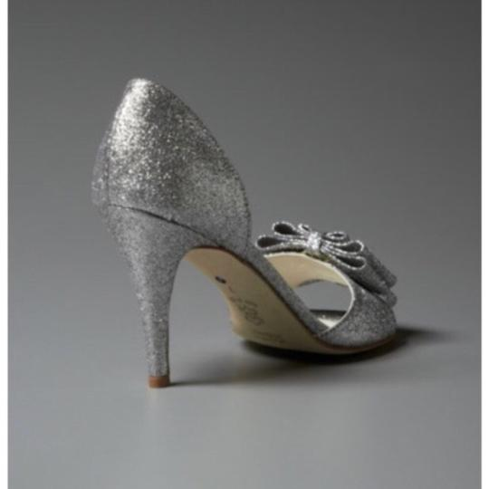 BHLDN Silver Cendrillon D'orsays By Something Blue Pumps Size US 9.5 Regular (M, B) Image 2