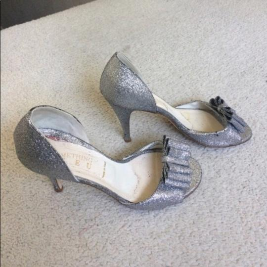 BHLDN Silver Cendrillon D'orsays By Something Blue Pumps Size US 9.5 Regular (M, B) Image 4