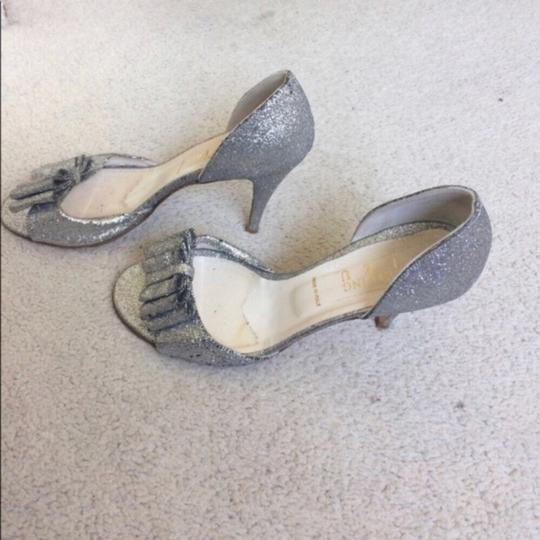 BHLDN Silver Cendrillon D'orsays By Something Blue Pumps Size US 9.5 Regular (M, B) Image 5